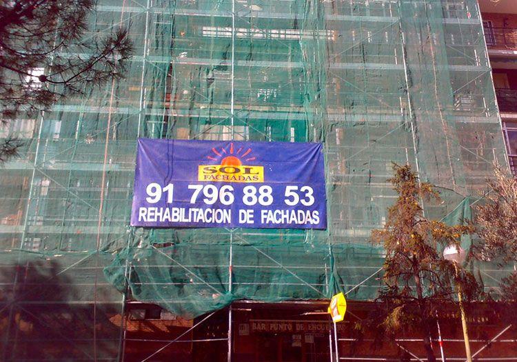 Andamiajes Madrid - Sol Fachadas. Empresa de andamios